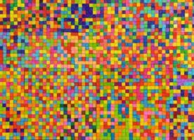 Kunstwerk met gekleurde vierkantjes
