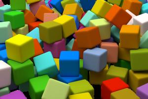 gekleurde blokjes