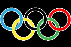 vijf gekleurde ringen van de Olympische Spelen