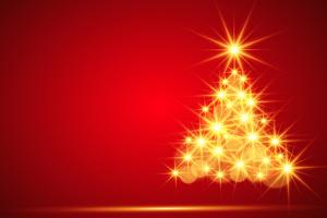 een kerstboom van lichtjes