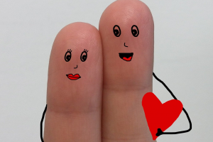 verliefde vingers