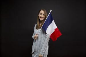 meisje met Franse vlag