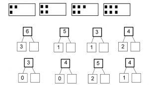 Voorbeeld splitsoefening met getalbeeld