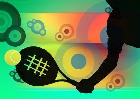 kleurrijke illustratie over tennis