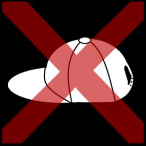 Pet met rood kruis