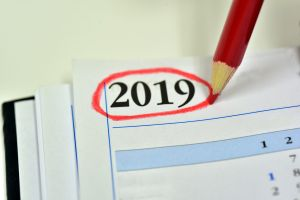 Agenda with the year 2019