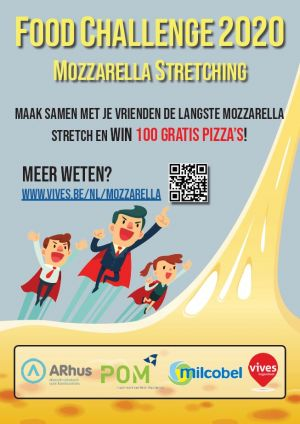 Affiche Food Challenge 2020 - Mozzarella stretching