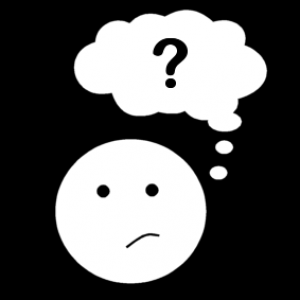 male with question mark in speech bubble