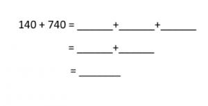voorbeeldoef. 140+740 met tussenstappen