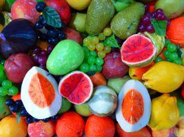 Verschillende stukken fruit