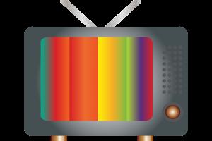 clipart van een ouderwetse televisie