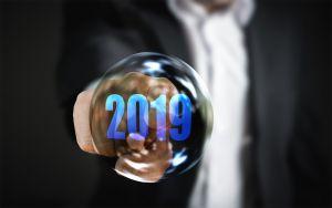 zeepbel met 2019 in