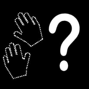Picto met afbeelding van handen en vraagteken : hoe?