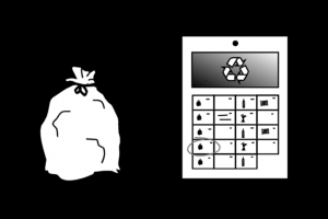 picto van afvalzak en afvalkalender
