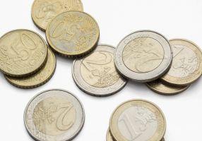 euromuntstukken van 50 cent, 1 en 2 euro