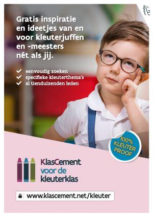 Affiche KlasCement voor de kleuterklas met ideetjes en inspiratie voor kleuterjuffen en -meesters