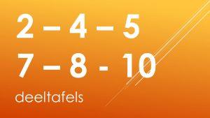 Vermelding deeltafels 2, 4, 5, 7, 8 en 10