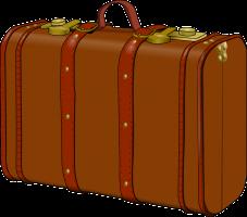bruine koffer