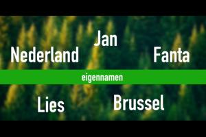 screenshot uit filmpje : voorbeelden van eigennamen