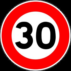 verkeersbord 30km/u