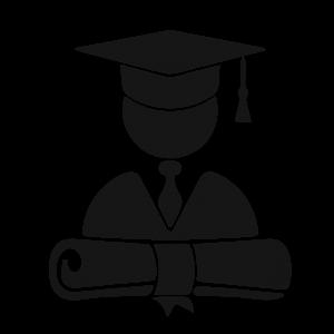 picto van een universiteitsstudent