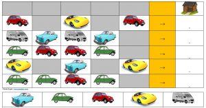 Aan te vullen patronen met afbeeldingen van auto's