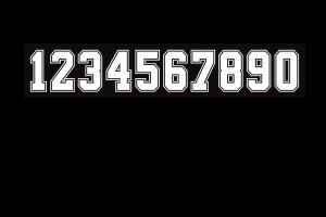 cijfers in zwart en wit