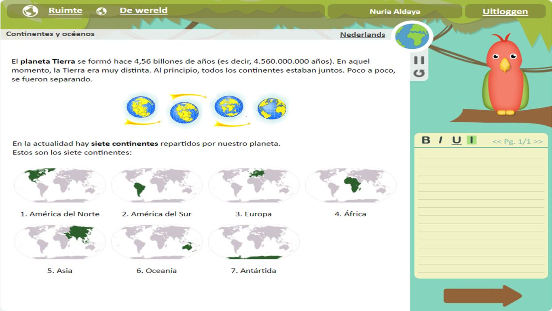 Screenshot Spaans