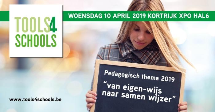 banner tools4schools woensdag 10 april 2019 Kortrijk XPO Hal6