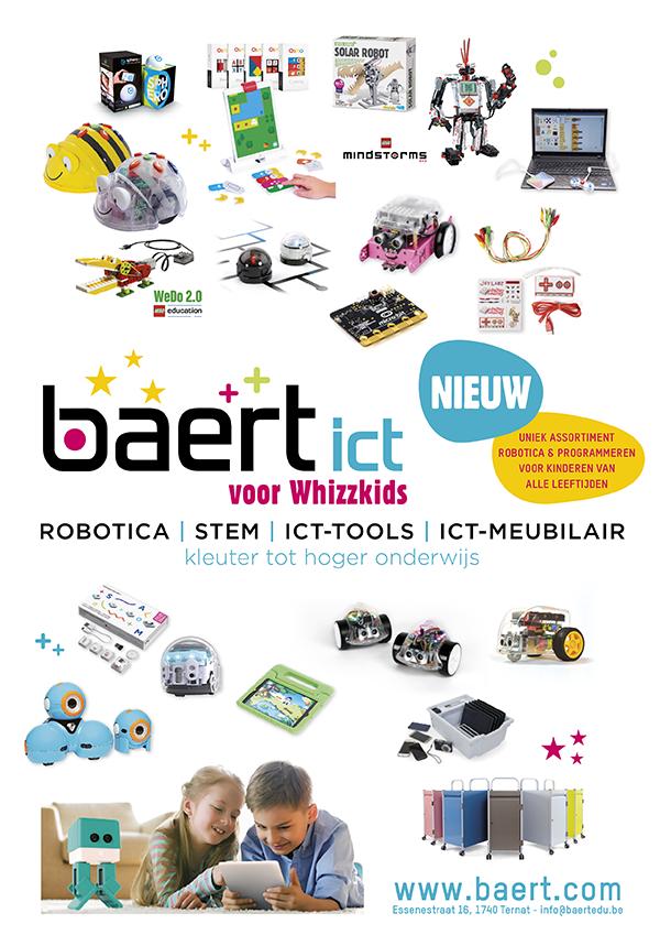 Nieuw: Baert ict voor whizzkids, robotica, STEM, ICT-tools, ICT-meubilair van kleuter tot hoger onderwijs - Uniek assortiment robotica & programmeren voor kinderen van alle leeftijden - www.baert.com/robotica