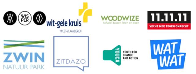 logo's van allerhande organisaties actief op KlasCement