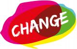 kleurig logo van change
