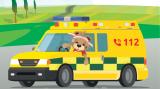 cartoon ziekenwagen