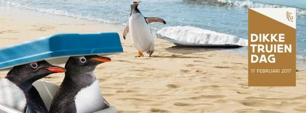 Campagneafbeelding Dikketruiendag 2017 met pinguïns