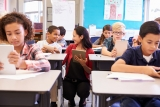 lerares geeft les
