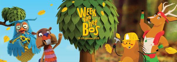 Banner 'Week van het Bos'