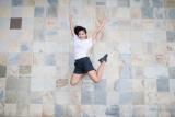 Meisje springt