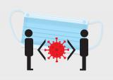 Visual over afstand houden om zo coronavirus te bestrijden