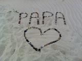 Tekening gemaakt op het strand