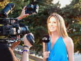 Journaliste voor de camera