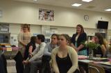 Mensen in een klaslokaal