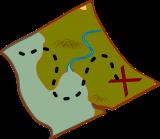 Visual van schatkaart