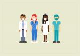 Visual met personeelsleden uit de zorgsector