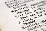Schrift in Latijn