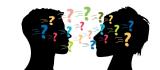 Visual van hoofden, omringd door vraagtekens