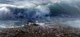 Foto van tsunami