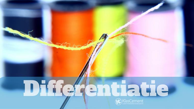 differentiatie verschillende kleurrijke draden