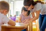 Kinderen en leraar