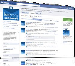 Leerzorgsite aanwezig op Facebook