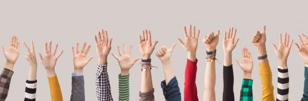 handen in de lucht verkiezingen